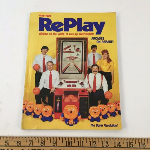 Vintage RePlay Magazine May 1990 Volume XV No. 8 - Video Game / Coin Op / Arcade