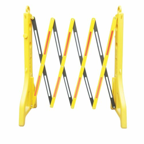 Reliable1st Expandable Mobile Barricade   Safety Barrier with Reflective Strips