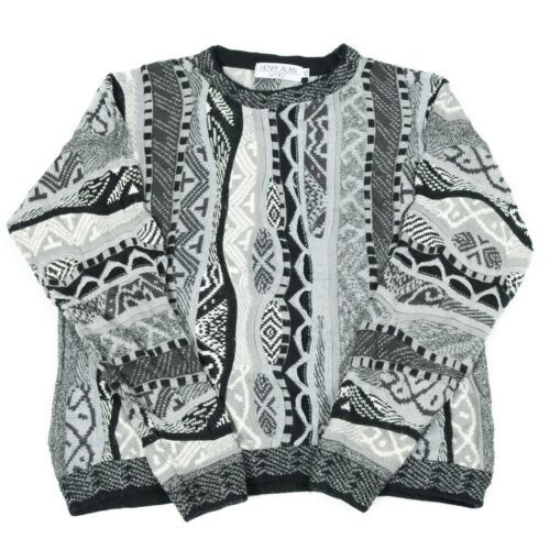 Details about Vintage Cosby Jumper | Sweater Knit 90s Hip Hop Patterned Top 3D Pullover