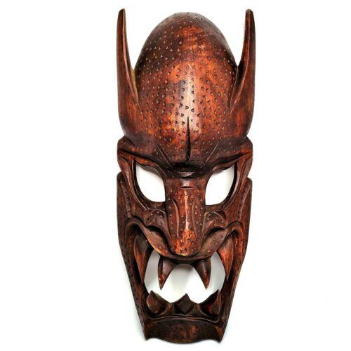 "Vintage Large Carved Wood Wall Mask Philippines Ifugao 24"" Very Nice Shape"
