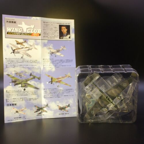 Bandai 1/144 Wing Club Airplane Collection L Part 3 Messerschmitt Bf110 Grey