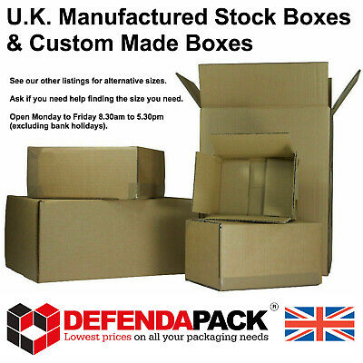 5 Cardboard Corrugated POSTAL POSTING BOX SHIPPING STORAGE BOXES 406x406x406mm