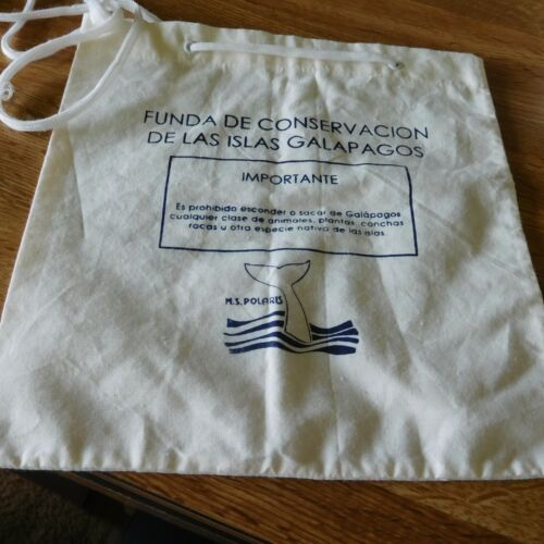 """9 1/2"""" conservation souvenir bag from the Galapagos Islands.."""