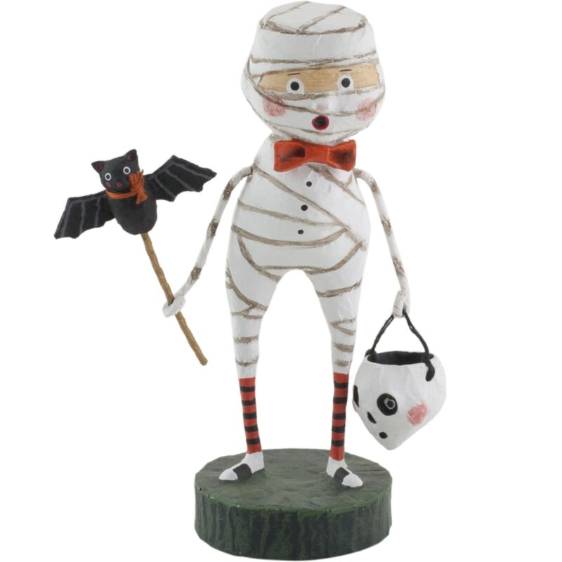 Lori Mitchell Halloween Mummy Boy Trick or Treater Folk Art Figure Figurine