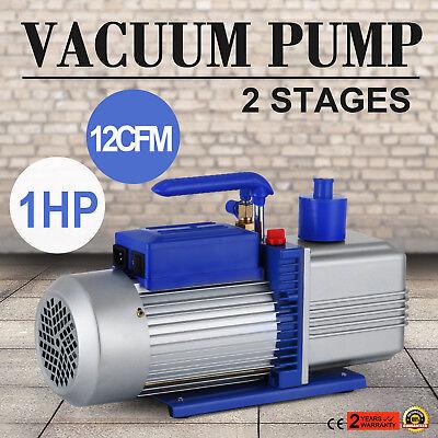 Electric 12 CFM Rotary 1 HP Air Vacuum Pump HVAC Refrigerant Conditioning A/C