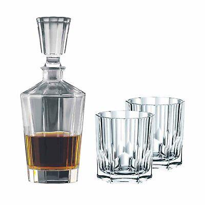 NACHTMANN Whisky Set FACETTE 3 teilig Karaffe und 2 Gläser