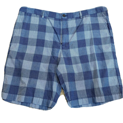 Tommy Bahama Mens Casual Shorts 40 Blue Diego Plaid Ocean Deep Khaki New Clothing, Shoes & Accessories