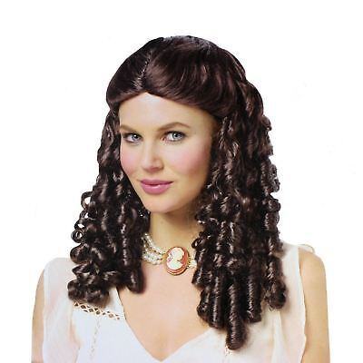 Womens Brown Costume Wig Curly Southern Belle Beauty Westworld Clementine Saloon