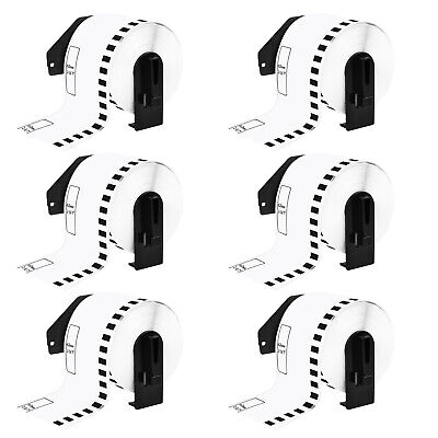 6 Pack Continuous Dk2205 White Labels For Brother Ql-570vm 720nw 2.4 X 100ft