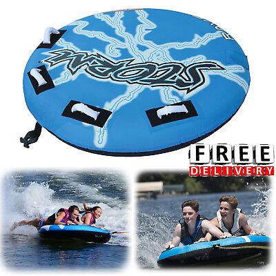 Towable Inflatable Tube 2 Person Ski Fun Float Boat Raft Tubing Water Sport