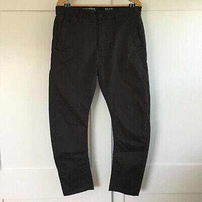 G Star Bronson Tapered Chino Pants 32x20 Dark Gray Raven