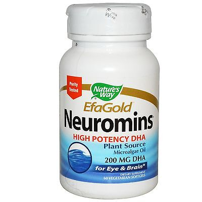 Nature's Way, EFAGold, Neuromins, High Potency DHA, x 60 Veggie Softgels ()