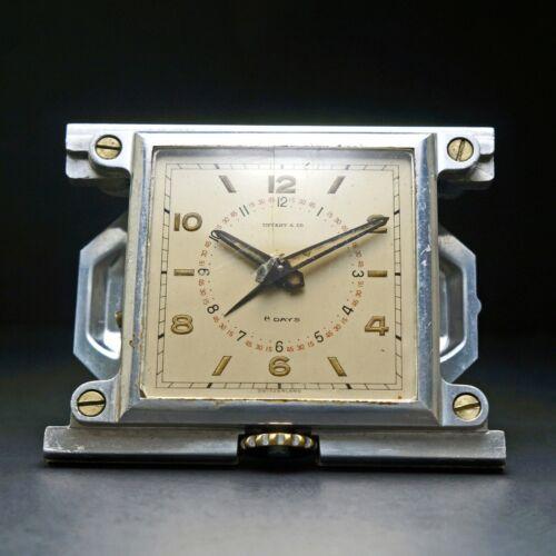 Rare Movado Tiffany & Co 8 Days Jumbo Ermeto Desk Alarm Clock, NO CASE, Original