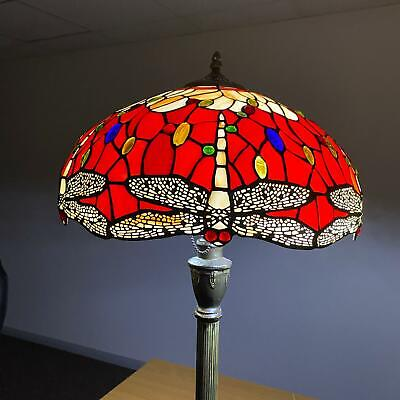 Dragonfly Antique Style Hand crafted TIFFANY Floor Lamp Bed/Living Room UK Plug