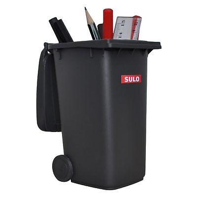 Sulo Mini Müllbehälter grau Tisch-Mülltonne Stiftehalter Spielzeug