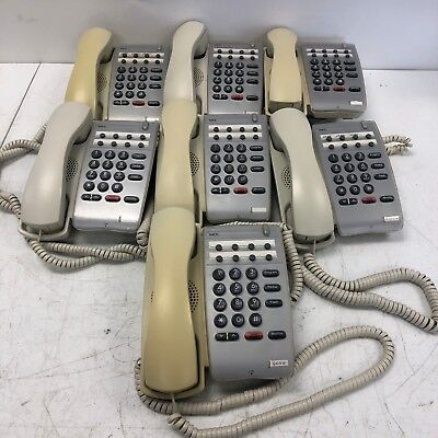 Lot Of 7 Nec Dtr-1hm-1 780026 Phones White Some Yellowing See Pictures