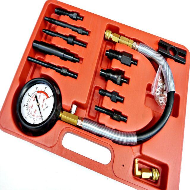 12pc Compression Tester Diesel Engine Injector Glowplug Fuel Cylinder Pressure