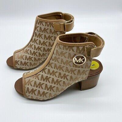 New Michael Kors Girls Shoes Mk Logo Size 1 Casual/ Formal