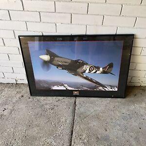 Spitfire Poster - Framed Herston Brisbane North East Preview