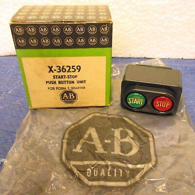 Allen Bradley Start-stop Push Button Unit X-36259 - Nos