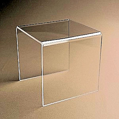 4 Clear Acrylic Plastic Risers Display Stand Pedestal 3 X 3 X 3