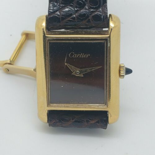 Cartier Tank Watch 18kt Gold Plated.