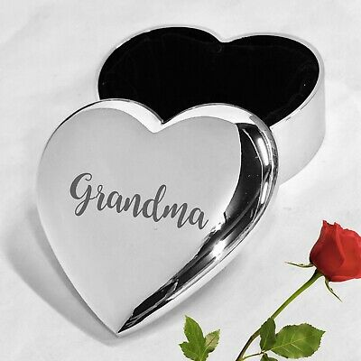 Grandma Birthday Trinket Gifts Ideas For Her Engraved Box Christmas Retirement ()