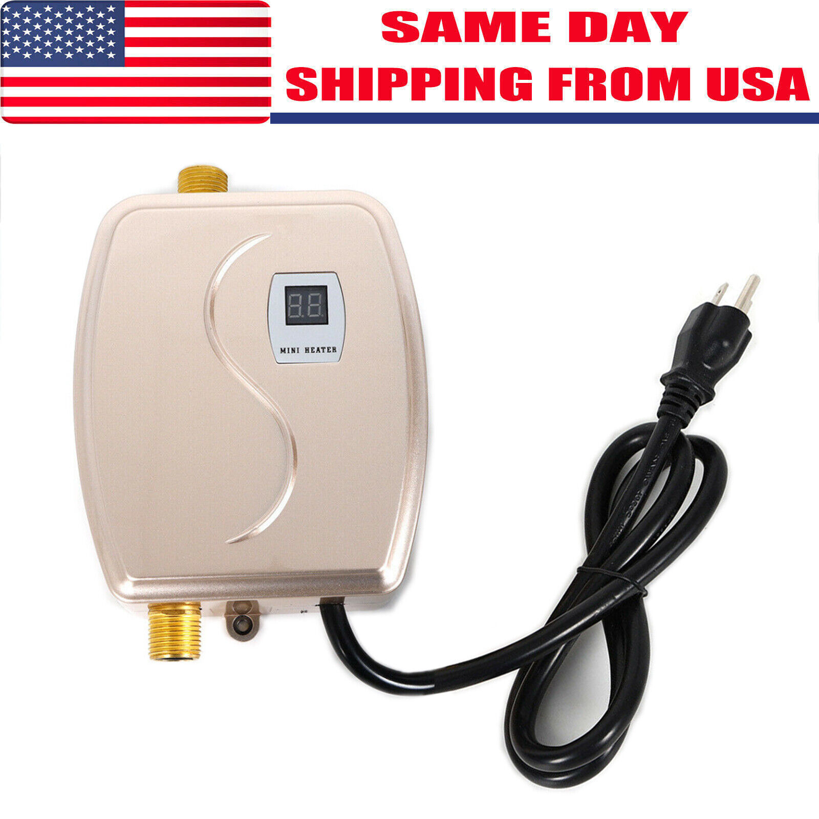 Mini Instant Electric Tankless Hot Water Heater Shower Kitch