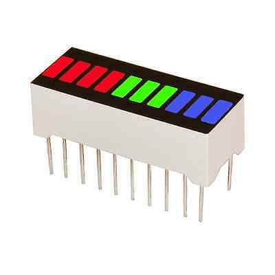 10 Segment Led Bar Graph Multicolor 4r3g3b Arduino