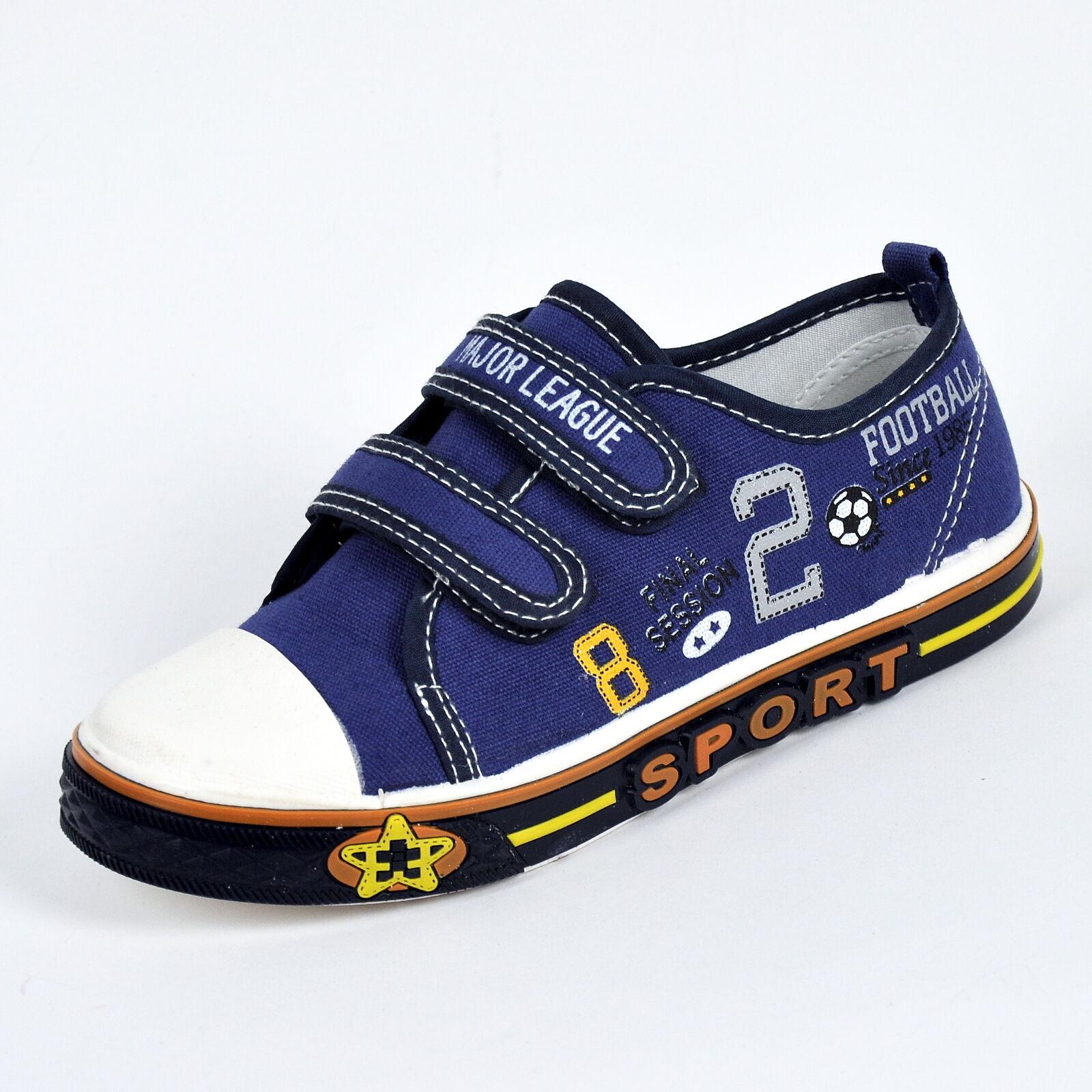 Jungen Canvas Sneaker Kinder Stoffschuhe Turnschuhe Hausschuhe - A805