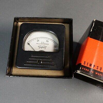 Triplett Panel Meter 0-75 Dc Milliamperes Volts Gauge Vintage 227-t Simpson Box
