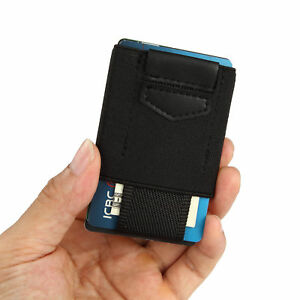 Front Pocket Minimalist EDC Slim Wallet 15 Card Holders for Men Cash Coins Keys