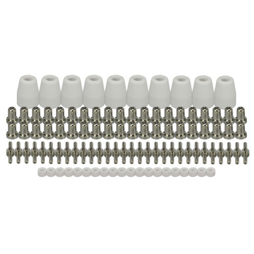 LG-40 PT-31 Plasma Cuter Torch Consumables Kit Extended Nickel-plated 100pcs