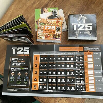 Focus T25 Beach Body Fitness dvd Disc Set Plus Nutrition Kit And Calender