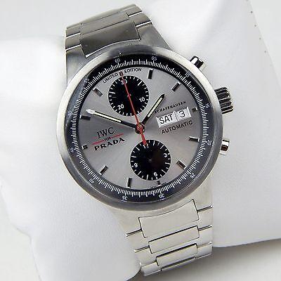 IWC For Prada Chronograph Ref 3708 Limited Edition Gents Bracelet Watch sku 9621