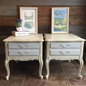 Antique French provincial side tables