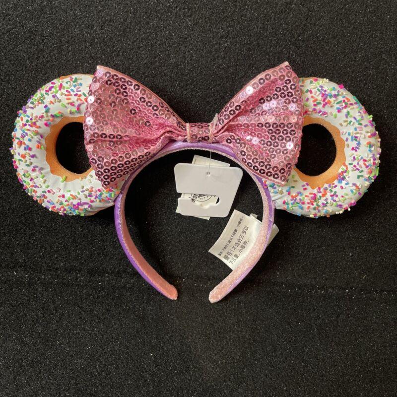 Disney Donut Sprinkles Minnie Ears Headband New In Hand