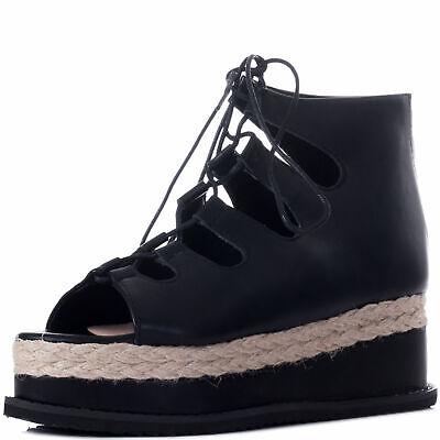 Womens Lace Up Platform Sandals Shoes Sz 3-8 Lace Up Platform Sandal
