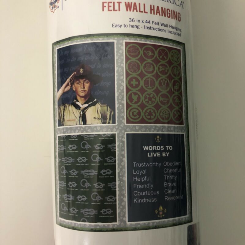 Boy Scouts of America® Felt Panel Roll Wall Hanging Creed Troop Decoration NIP
