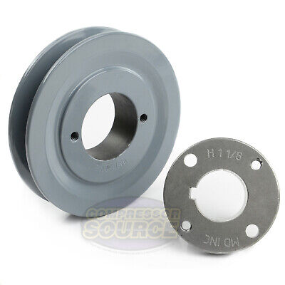 Cast Iron 4.5 Single 1 Groove Belt A Section 4l Pulley W 1-18 Sheave Bushing