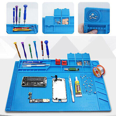 17.7 X 11.8 Inch Heat Resistant Silicone Soldering Mat Electronic Repair Mat