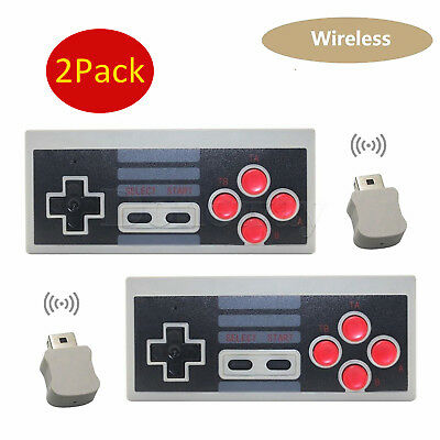 2 Pcs Wireless Game Controller Gamepad For Nintendo Nes Classic Edition Console