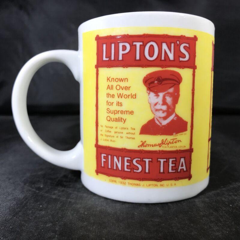 ADVERTISING Lipton Tea Cup Mug By The Tin Box Co Yellow Red