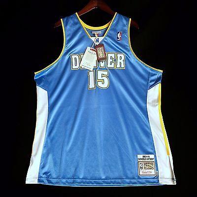 100% Authentic Mitchell & Ness Carmelo Anthony Nuggets NBA Jersey Size 52 2XL segunda mano  Embacar hacia Argentina