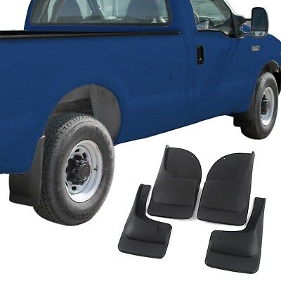 (Ford Super Duty F250 F350 Mud Flaps 1999-2007 Mud Guards Splash 4pc Front & Rear)