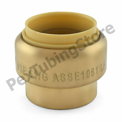 10 1 Sharkbite Style Push-fit Push To Connect Lead-free Brass Plugs Caps