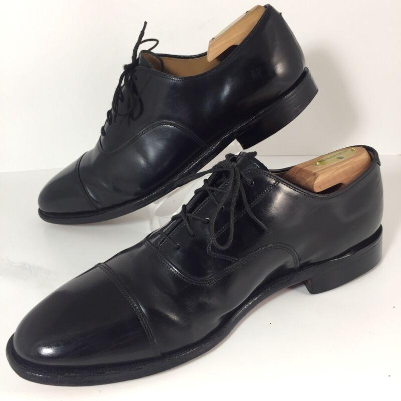 Johnston Murphy Black Cap Toe Melton Oxford Dress Shoes Mens 11d
