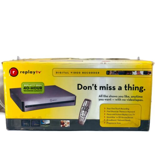 ReplayTV 5504 40-Hour Recording Capacity DVR Player In Box Bundle Cords Remote