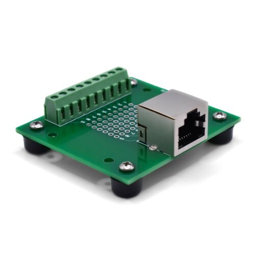 RJ45 8P8C Ethernet Screw Terminal Breakout Board / Interface Module ST-RJ45-R-FT