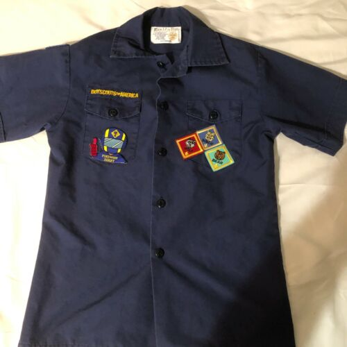 Official BSA Boy Scout Cub sht slv uniform shirt patches Y Med Pinewood Derby